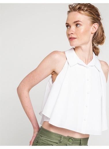 Omuz Pencereli Volanlı Gömlek-Love'n Fashion Paris